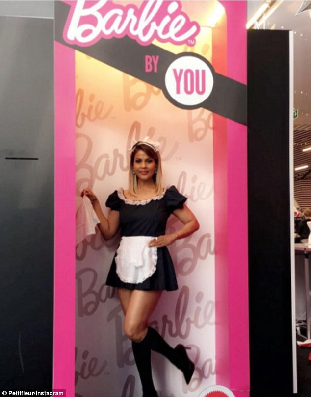 Sexy French Maid Costume Pettifleur As A Living Barbie Doll