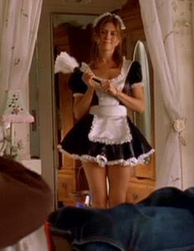 draw french maid costume inspiration from jennifer aniston