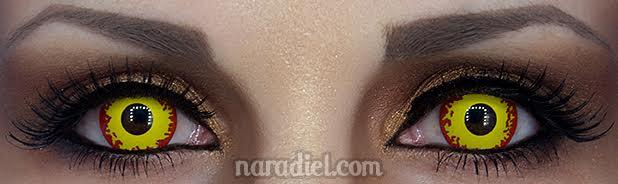 orange eyes