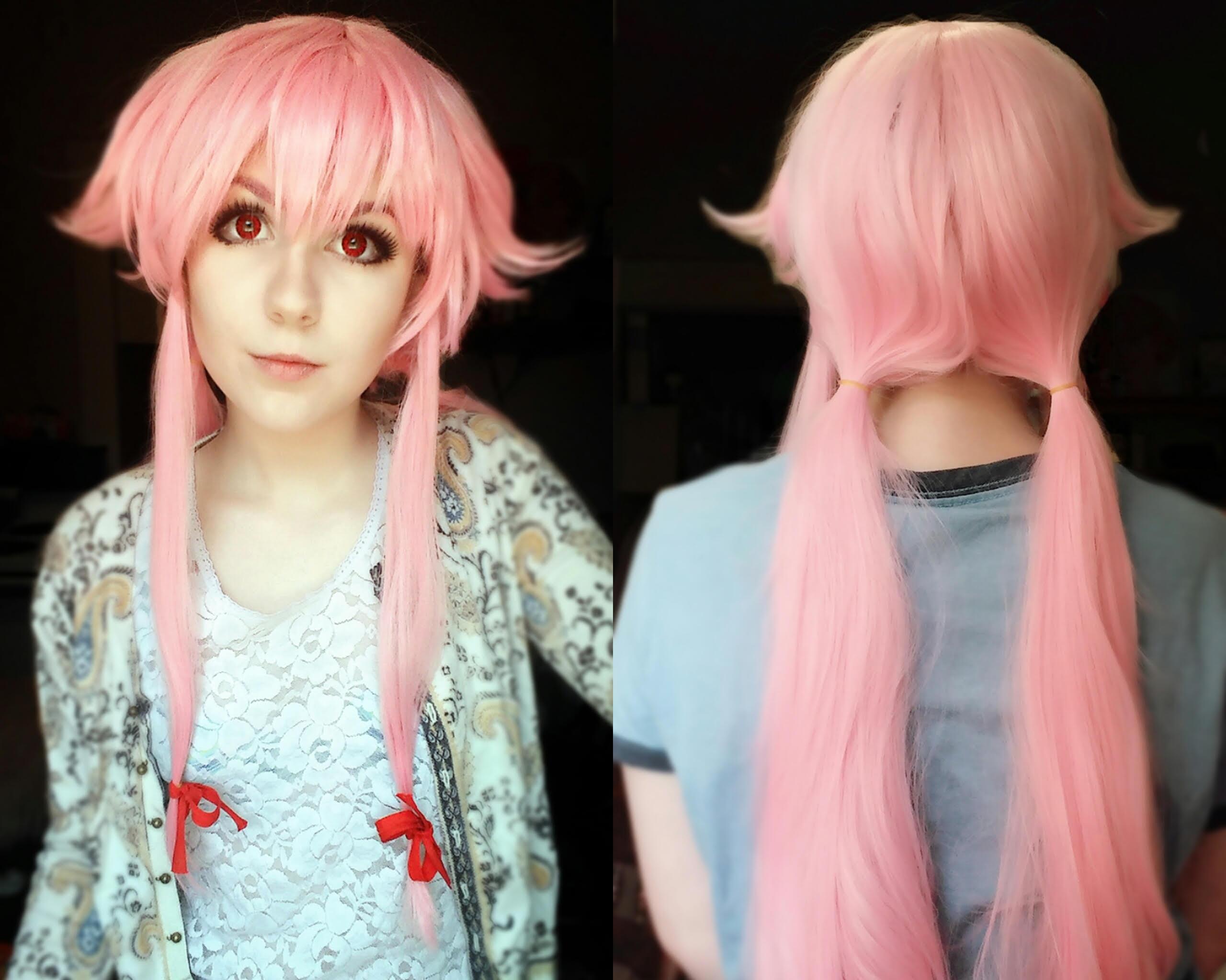 The Future Diary Gasai Yuno Cosplay Wig Uniqso