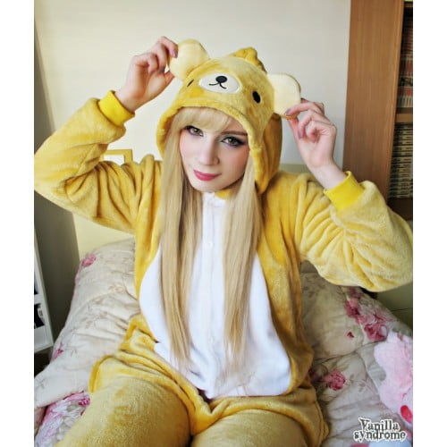 Kigurumi in bedroom