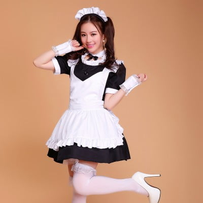 French Maid thigh high socks