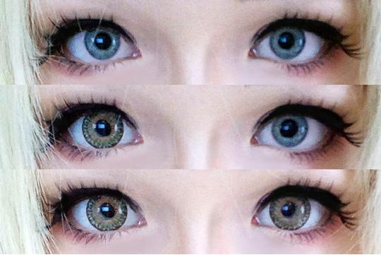 milky eyes