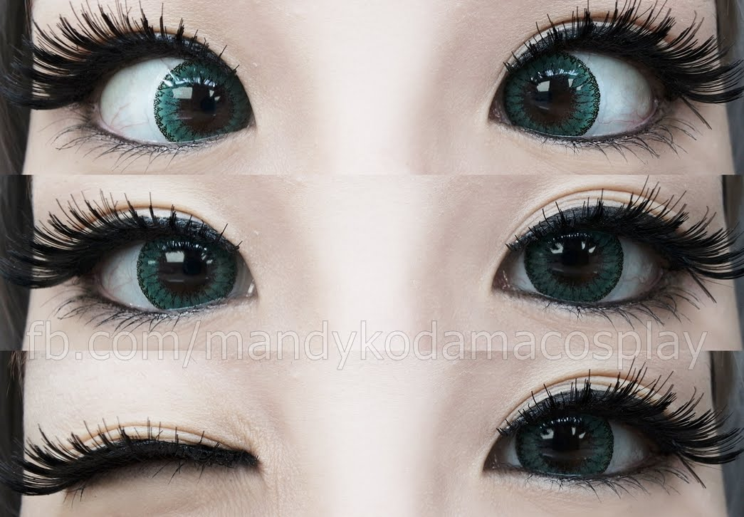 eos fay green colored contact lenses