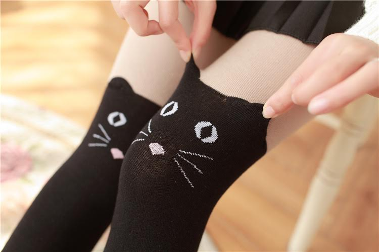 faux thigh high socks