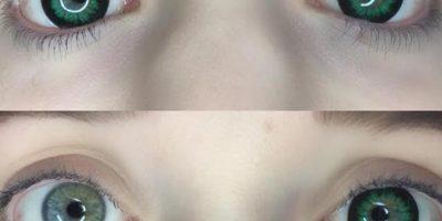 pop cdark green eyes