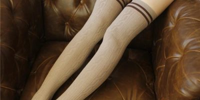 cotton thigh high socks
