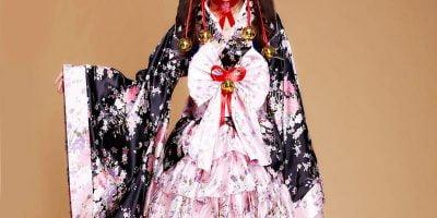 Kimono style cheap Lolita dresses