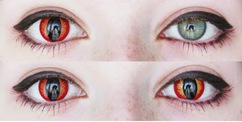 Dragon cosplay contacts that do not spin