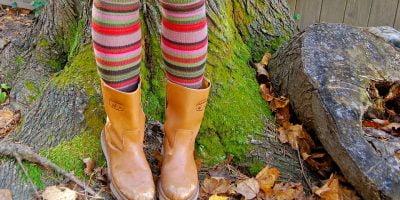 cotton thigh high socks