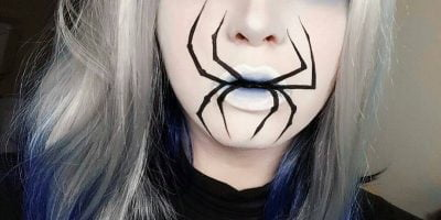 Halloween contact lenses white mesh