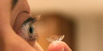 torn contact lenses