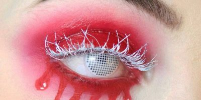 white out costume contact lenses