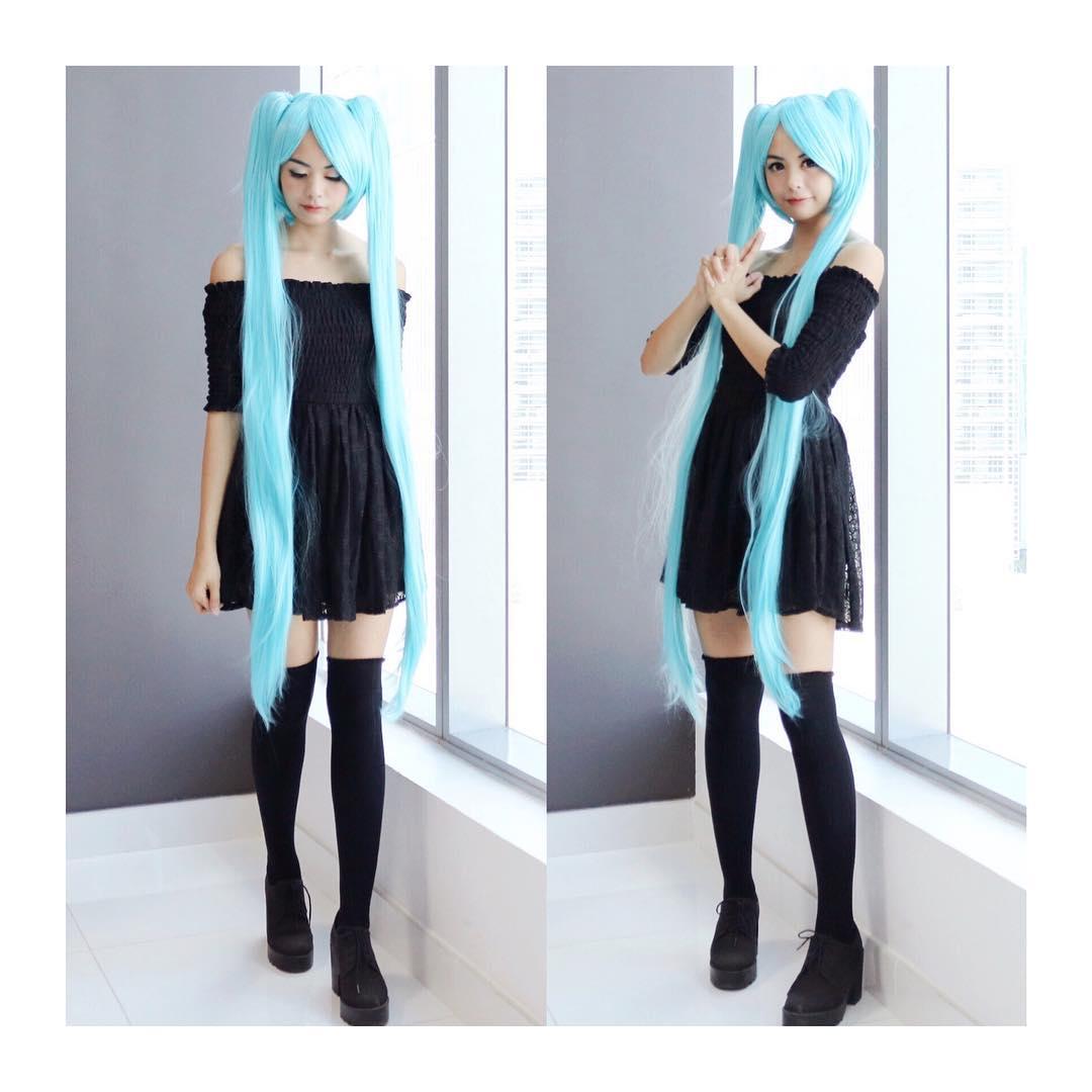 Vocaloid Miku 075 B cosplay wig