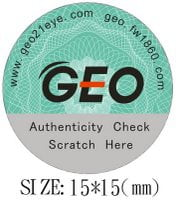 geo contact lenses anti fake sticker