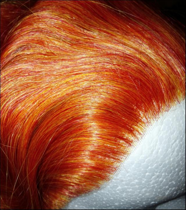 Cherry red lace front wig