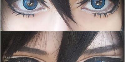 EOS New Adult blue lenses