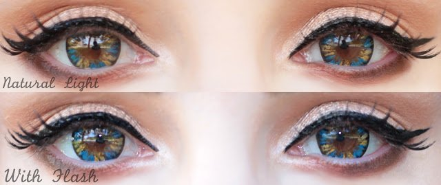 sweety eclair blue contact lenses