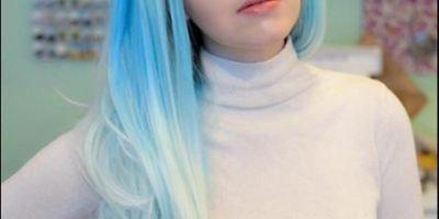 Elegant Blue Lace front wig