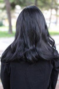 lolita wig 292A back Black wig