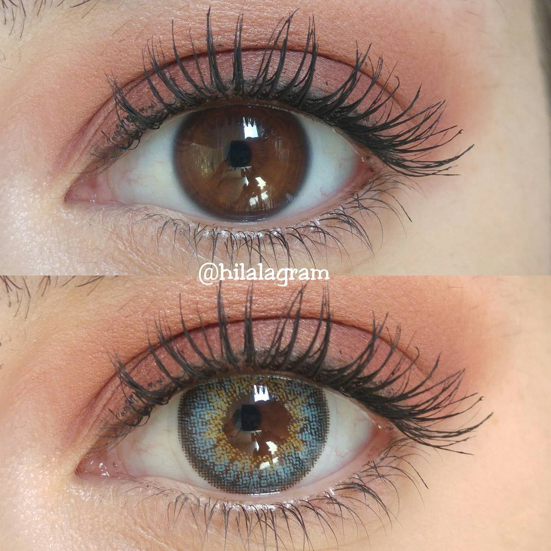 Natural But Vibrant Blue Contacts For Brown Eyes