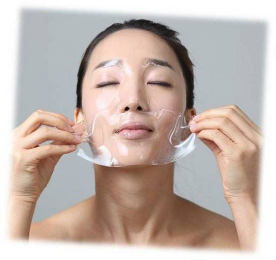 korean skin care hydrogel mask