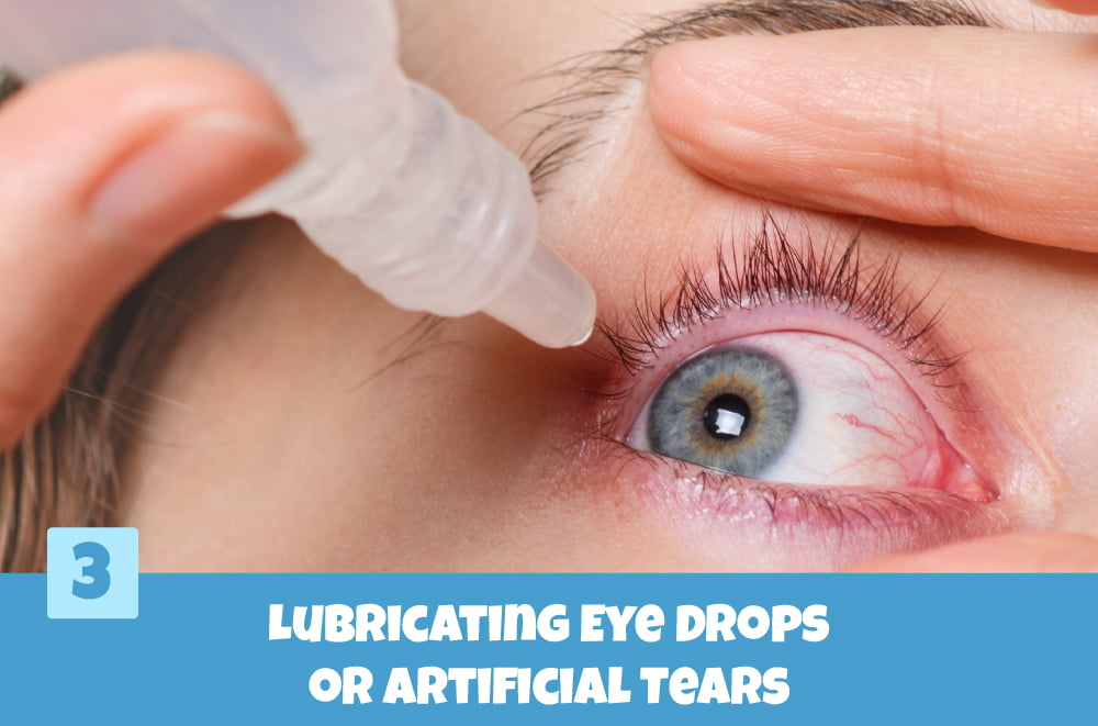 Fix Blurry Contact Lenses using Lubricating Eye Drops or Artificial Tears