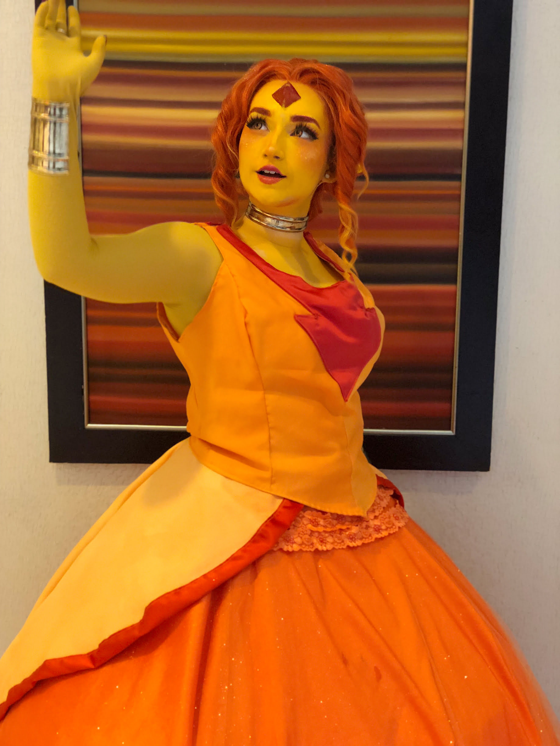 Flame Princess Cosplay Wig
