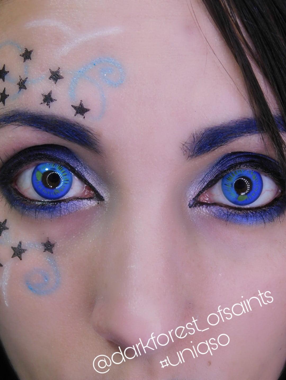 sweety anime eye blue