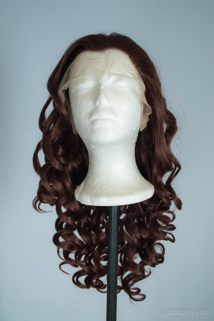 lace front synthetic wig with extended lace