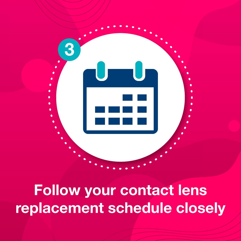replace contact lens and case properly to prevent contact lenses hurt
