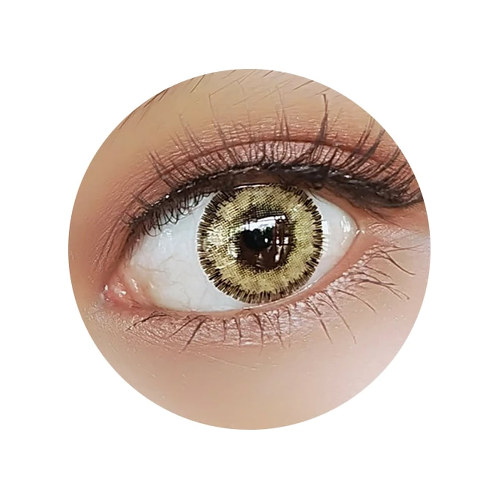 Colorvue Fizzy Sepia Brown. Best coloured contacts for dark eyes.