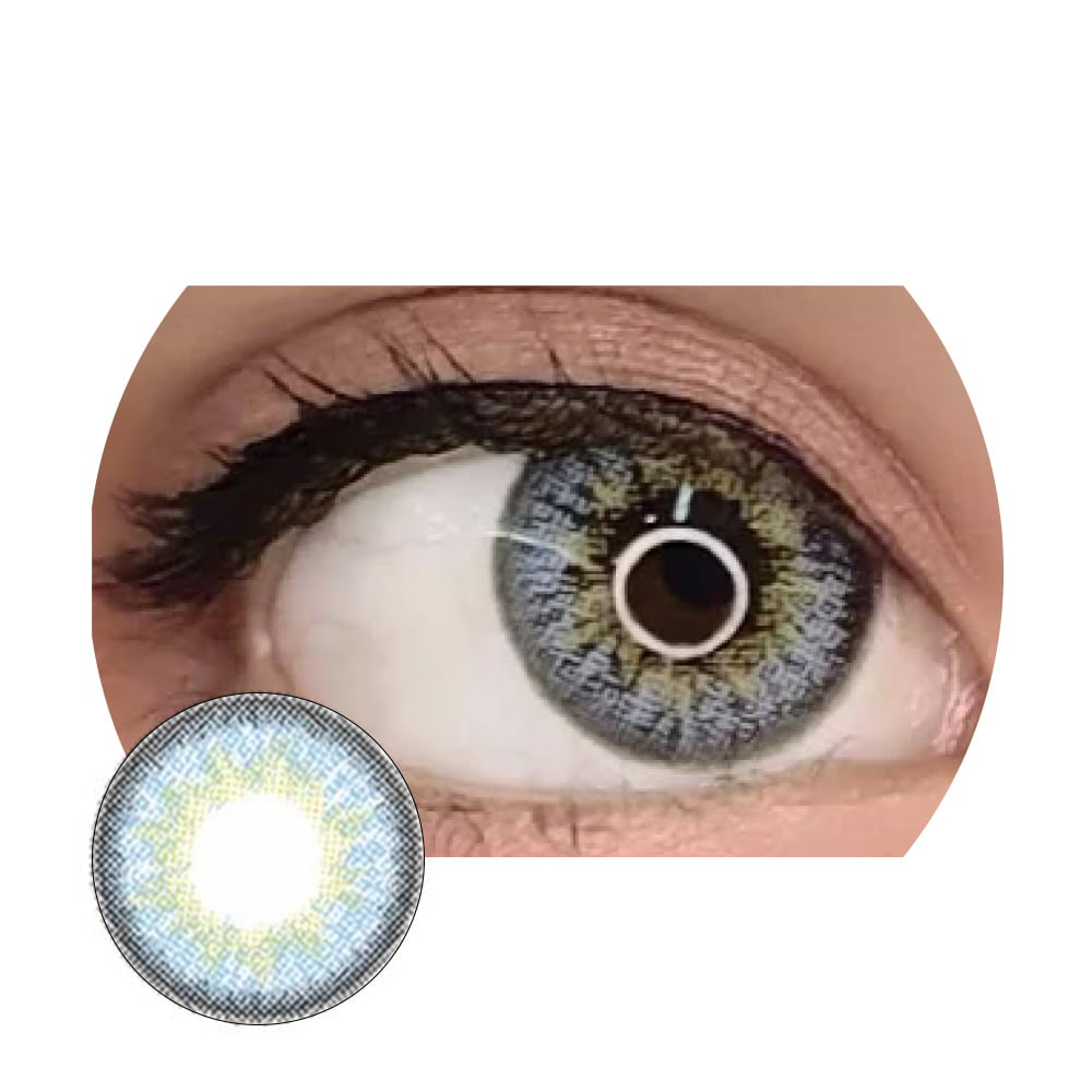 EOS Natural Sky Blue. Best coloured contacts for dark eyes.