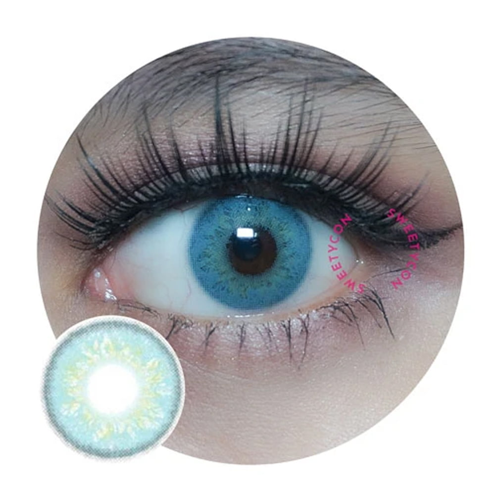 Sweety Russian Blue. Best coloured contacts for dark eyes.