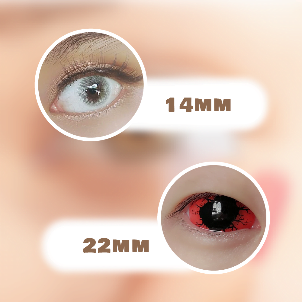Colored contact lenses also comes in different sizes for different needs.
