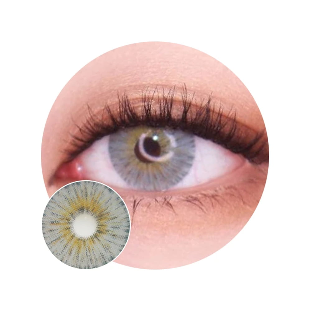 Urban Layer Gogh Grey. Best coloured contacts for dark eyes.