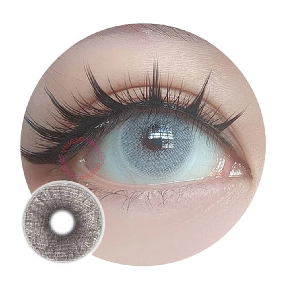 Urban Layer Mars Grey. Best coloured contacts for dark eyes.
