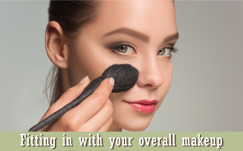 Fitting coloured contacts in with your overall makeup