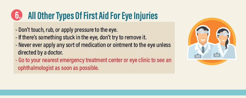 All Other Types Of First Aid For Eye Injuries