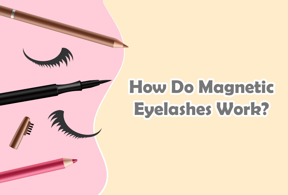 How Do Magnetic Eyelashes Work? Just apply the given magnetic eyeliner and pop on the magnetic eyelashes along the lash line.