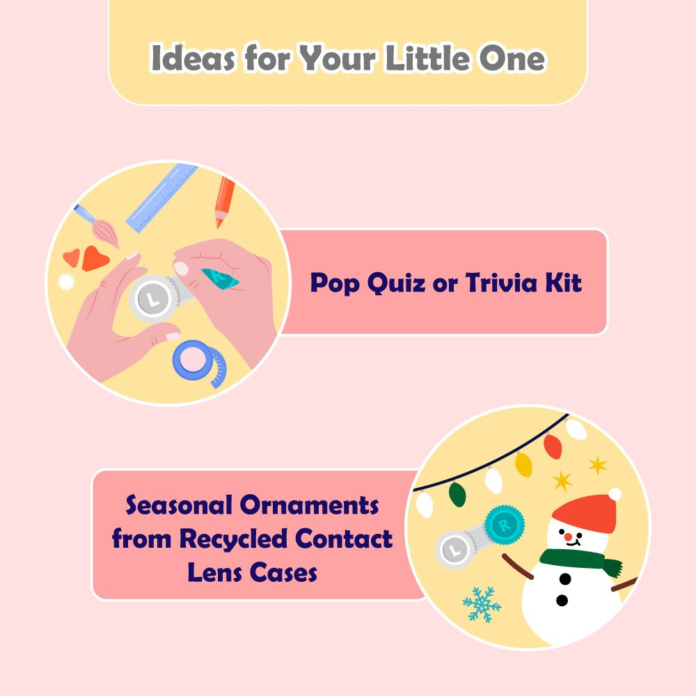 Ideas for Your Little One to recycle contact lens